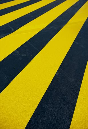 provisional: Provisional yellow pedestrian crossing Stock Photo