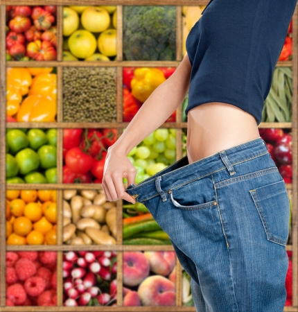 beautiful navel women: Successful and healthy diet composition
