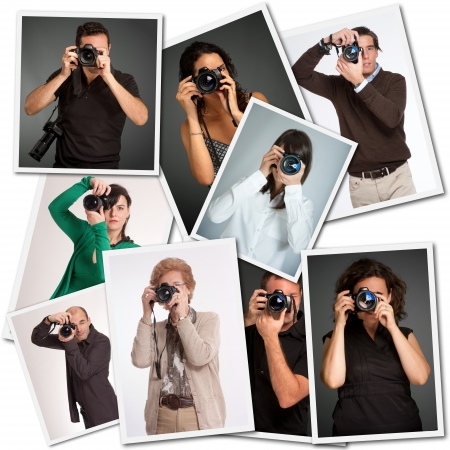 Collage with pictures of different photographers photo