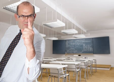 formulae: Scary teacher pointing a finger