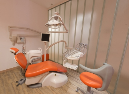 Modern orange dentist cabinet photo