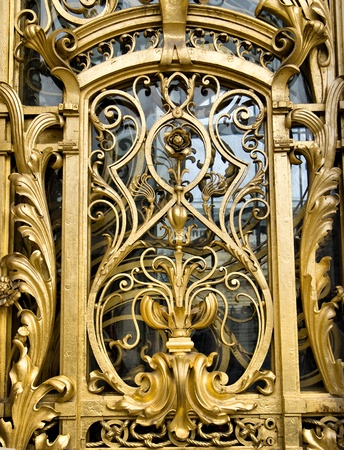 Detail of a golden door at the Petit Palais in Paris photo