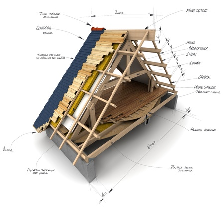 sheathing: House roofing technical details