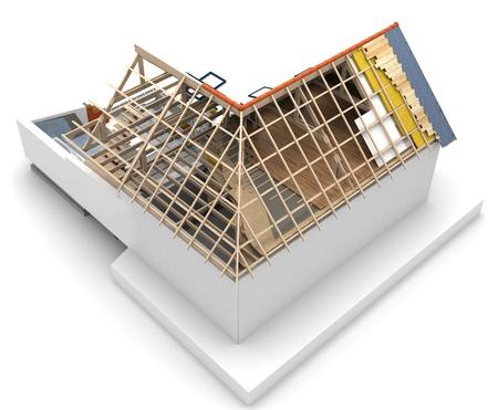 gürtelrose: Haus Dach technischen Details