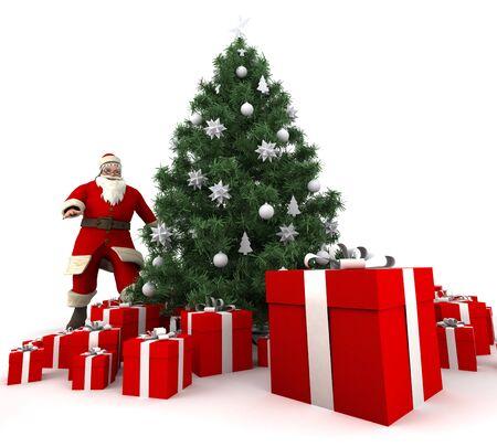 cor: Santa standing on a Christmas home décor