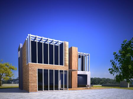 3D rendering of an original prototype construction, ideal for business or modern home Stock Photo - 16477586