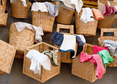 domestic task: Collection of laundry baskets