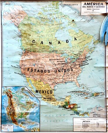 mexico map: North America map in Spanish
