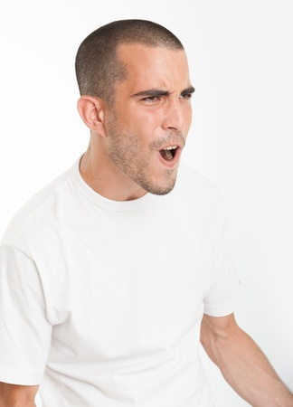 Young man yelling Stock Photo - 17572749