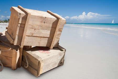 Life saving supplies on a beach photo