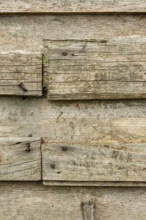 weather beaten: Old meteo battuto tavola di legno con chiodo arrugginito Archivio Fotografico