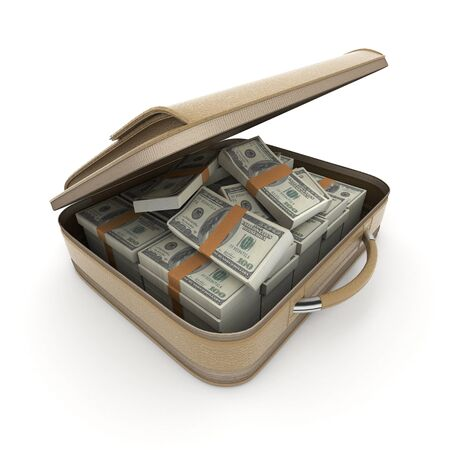 smuggling: A briefcase full of cash in hundred dollar bills