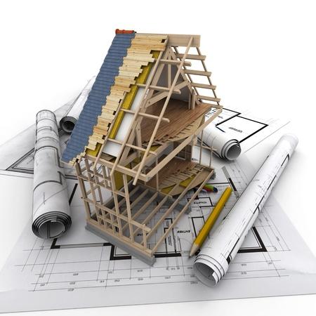 materiales de construccion: Los detalles técnicos de la construcción de viviendas Foto de archivo