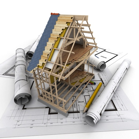 Technical details of home construction Stock Photo - 17999280
