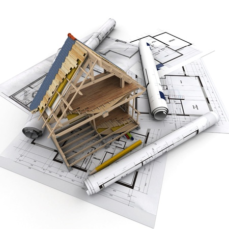 Technical details of home construction photo