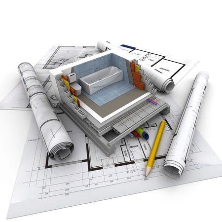 Technical details of home construction, toilet Stock Photo - 18262524