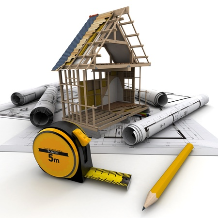 Technical details of home construction Stock Photo - 18385908