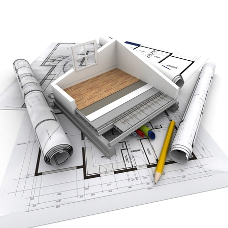 Technical details of home construction Stock Photo - 18355274
