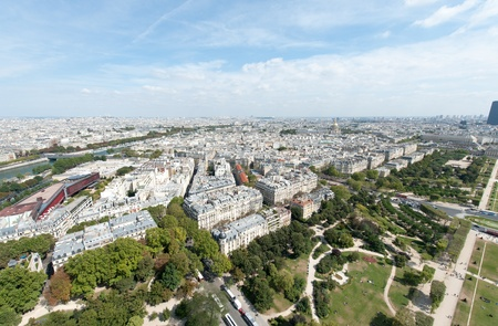View of Paris from the Eiffel tower photo