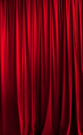 Close red theater curtain ideal for backgrounds photo