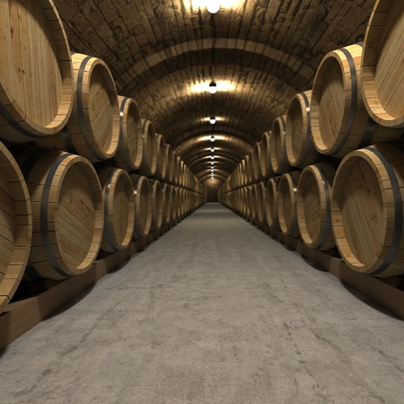 brewery: 3D rendering of a wine cellar