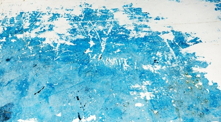 Blue and white grunge backgrounds of damaged paint photo