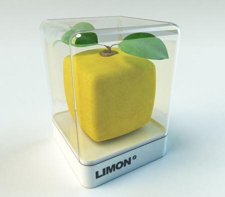 limon: A cubic lemon in a showcase