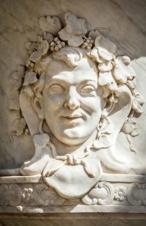 bacchus: Marble ornament depicting Bacchus in Aranjuez Palace