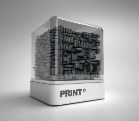 Vintage print letter cases on a design showcase Stock Photo - 20202095