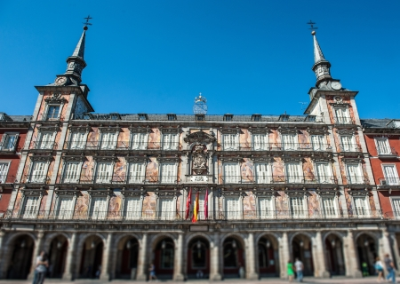 plaza of arms: Plaza Mayor in Madrid, typical sight