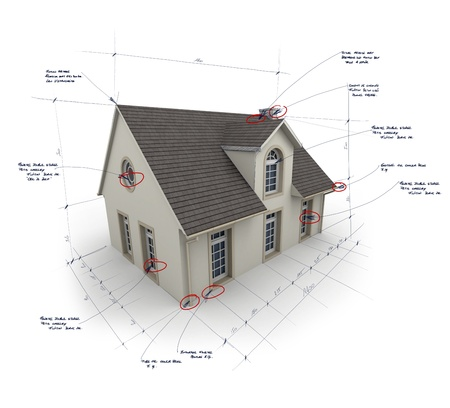 House with notes and measurements Stock Photo - 21069609