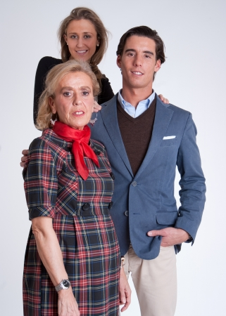 mother in law: Young couple with mother in law Stock Photo