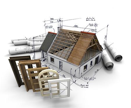 청사진 건설 집, 창문과 문을의 선택