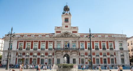real madrid: Puerta del Sol in Madrid Stock Photo