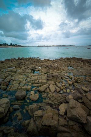 briton: Briton landscape with rocks by the sea
