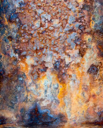 corroded: Close up shot on a rusty metallic surface