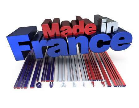 origin: 3D made in France with French flag colors and a bar code marked quality