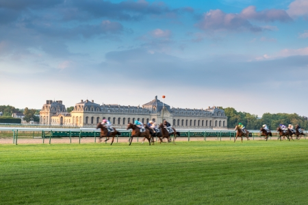 chantilly: Horserace in Chantilly, France Editorial