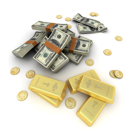 smuggling: A fortune in dollar notes, ingots and gold coins