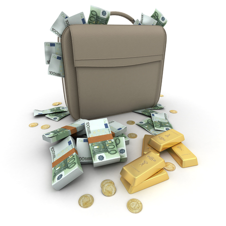 smuggling: Briefcase brimming with Euros and gold