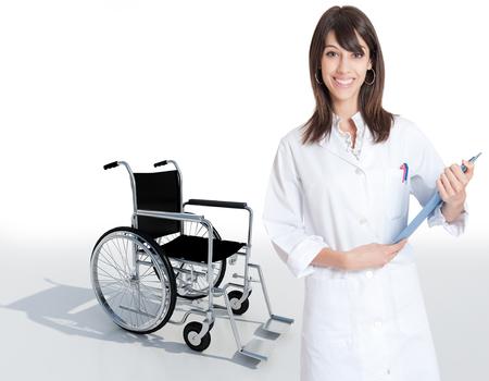 Female medical professional holding a folder  Stock Photo