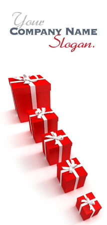 Red gift cases de diff�rentes tailles photo