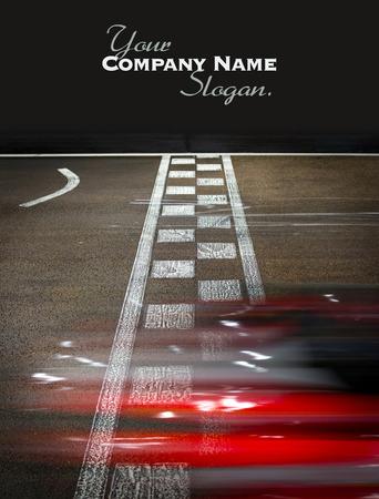 race track: Speeding car on a kart race
