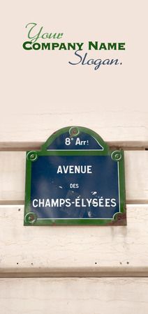 french text: Street plate for Avenue des Champs Elysees