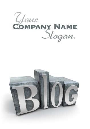 printing block block: The word Blog written in typescript letters