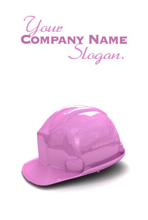 pink hat: 3D rendering of shinny new pink safety helmet Stock Photo