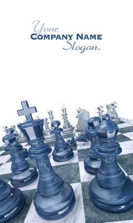 bishop chess piece: Ongoing chess game with a pawn down