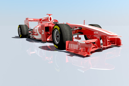 3D rendering of a Race car  Stock Photo