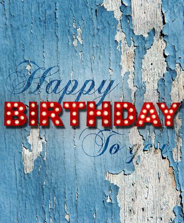 felicitaciones cumpleaÑos: Grunge fondo pintado con letras brillantes que escriben Cumpleaños de la