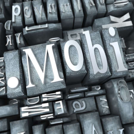 The word mobi written in typescript letters photo